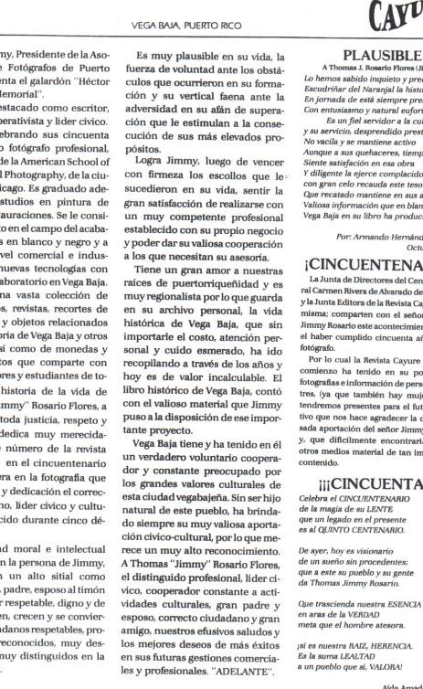 TJRF 1993 CAYURE THOMAS JIMMY ROSARIO FLORES SEMBLANZA Y POEMAS 2