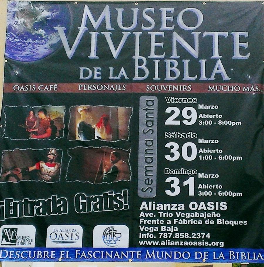ANUNCIO MUSEO VIVIENTE DE LA BIBLIA ALIANZA CRISTIANA Y MISIONERA