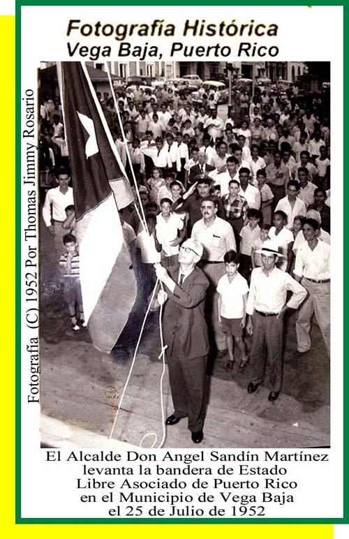 ASM41 Angel Sandín Martínez Alcalde Iza Bandera de Puerto Rico 1952