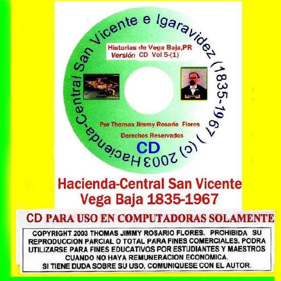 Historias de Vega Baja Vol. 5 Cd Hacienda San Vicente e Igaravides