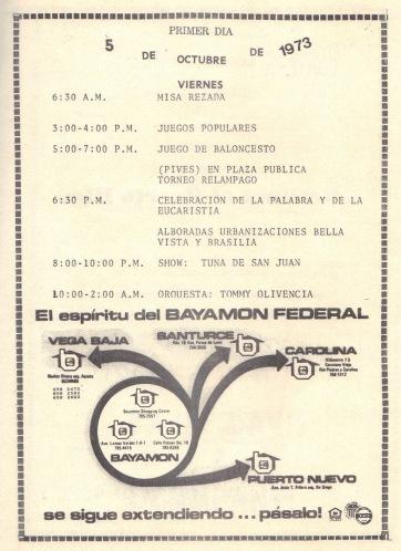 PROGRAMA FIESTAS PATRONALES 197320