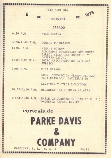 PROGRAMA FIESTAS PATRONALES 197321
