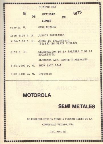 PROGRAMA FIESTAS PATRONALES 197323