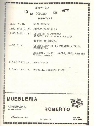 PROGRAMA FIESTAS PATRONALES 197325