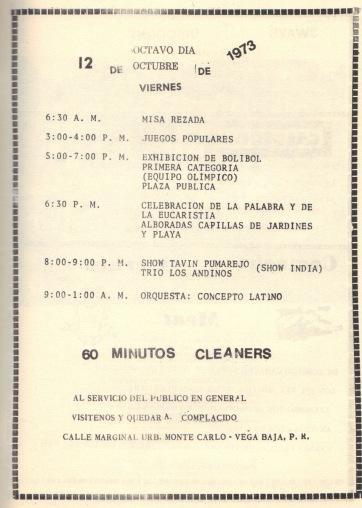 PROGRAMA FIESTAS PATRONALES 197327