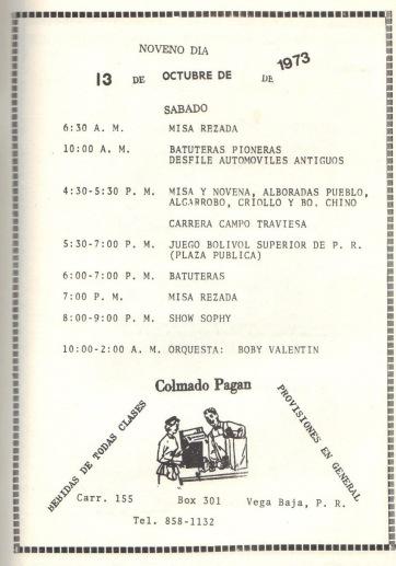 PROGRAMA FIESTAS PATRONALES 197328