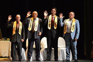 SALON DE LA FAMA DEL DEPORTE 8VA EXALTACION JULIO DAVILA EXALTADOS JURAMENTANDO