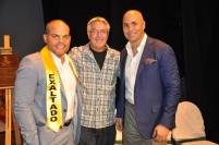 SALON DE LA FAMA DEL DEPORTE ROBERT RIVERA CON CARLOS BELTRAN E IVAN RODRIGUEZ