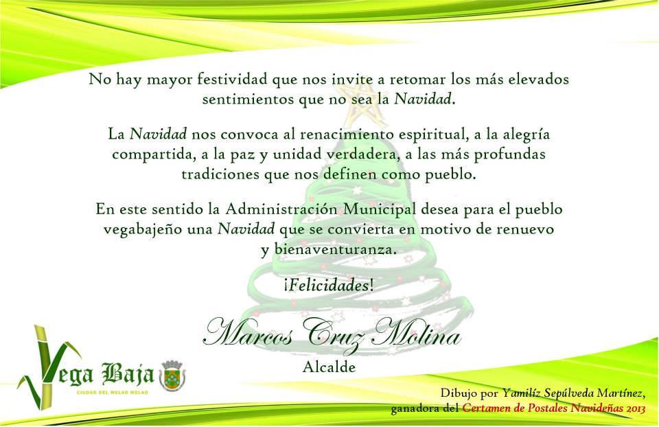 TARJETA DE NAVIDAD DEL ALCALDE MARCOS CRUZ – Archivo del Diario ...