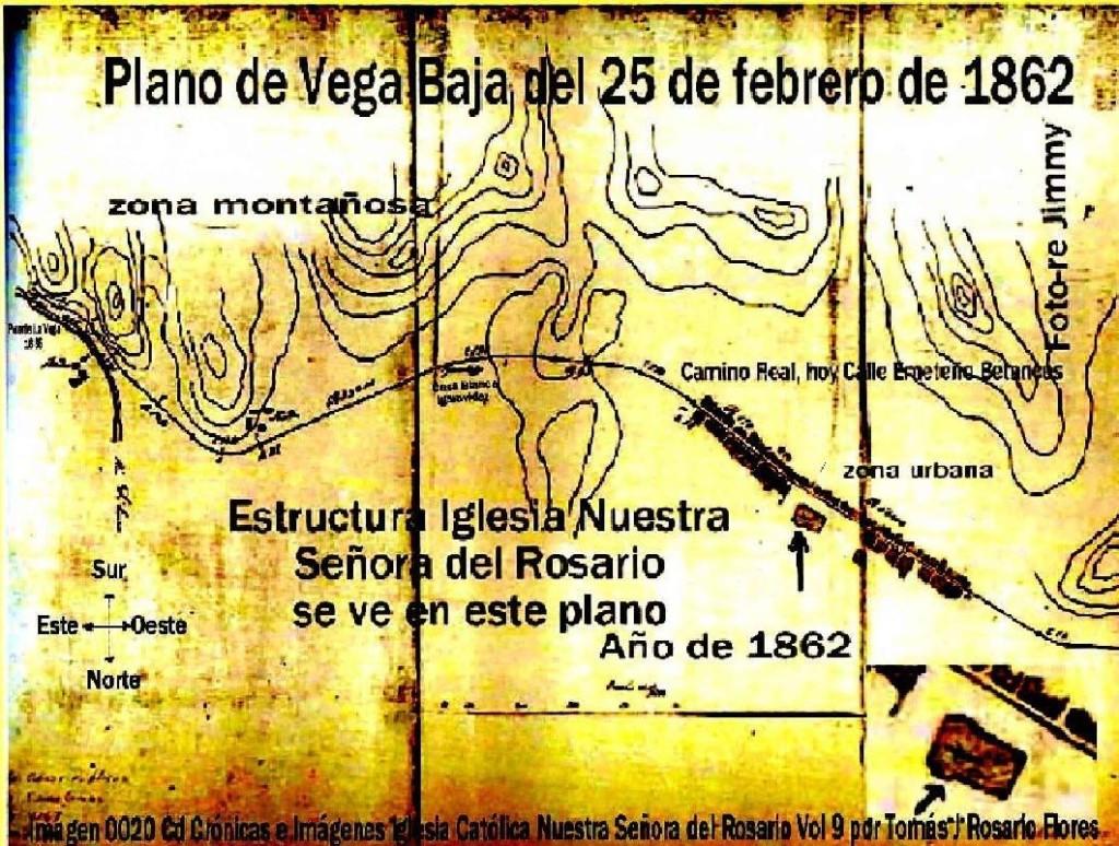 PLANO DE 1862 DE VEGA BAJA