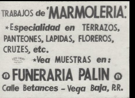 FJR 69002 ANUNCIO DE FUNERARIA PALIN  PARA TEATRO AMERICA 1952