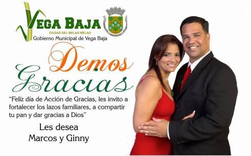 FELICITACION DE MARCOS Y GINNY