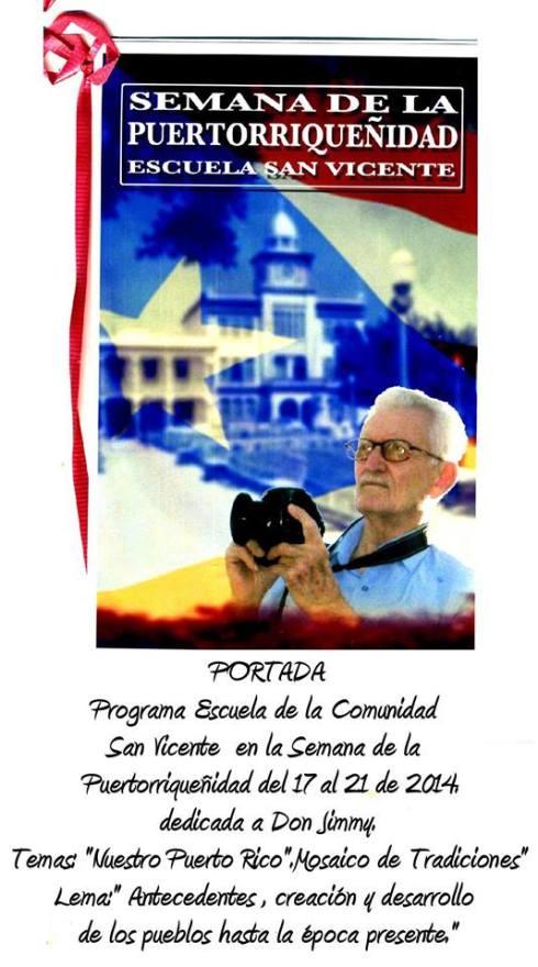 PROTADA PROGRAMA SEMANA PUERTORRIQUENIDAD DE ESCUELA SAN VICENTE
