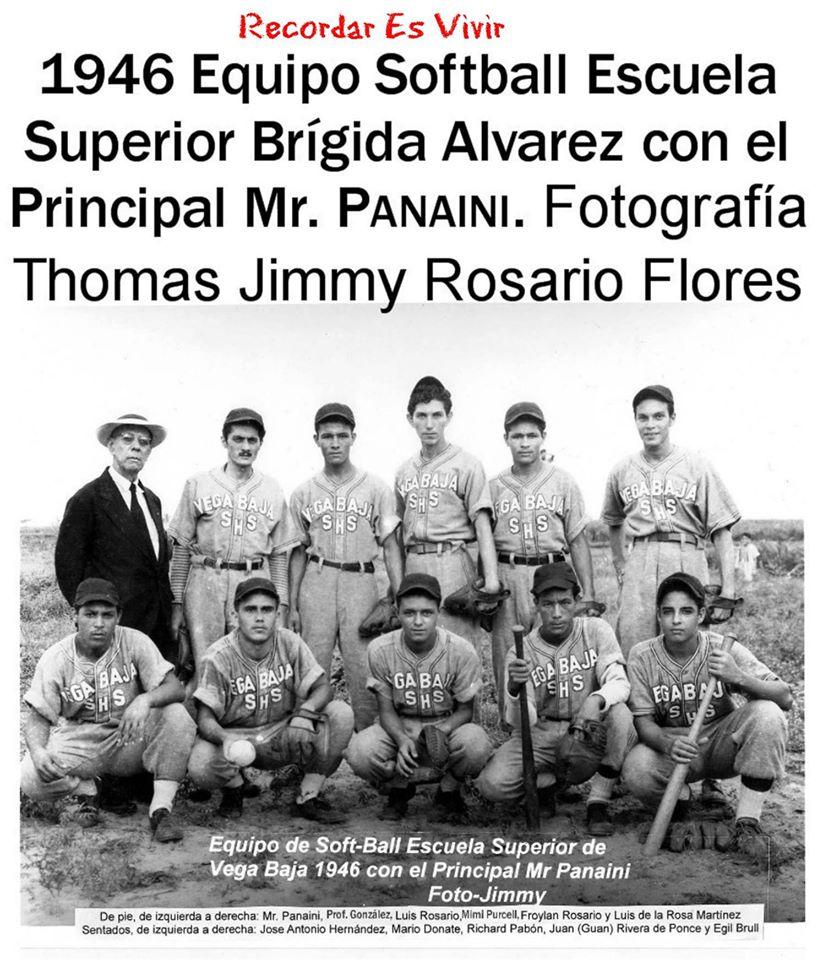 FJR EQUIPO ESCUELA SUPERIOR DE VEGA BAJA DE 1946