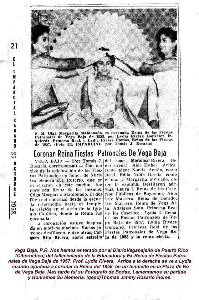 FJR TJRF EL IMPARCIAL 1957 Lydia Rivera