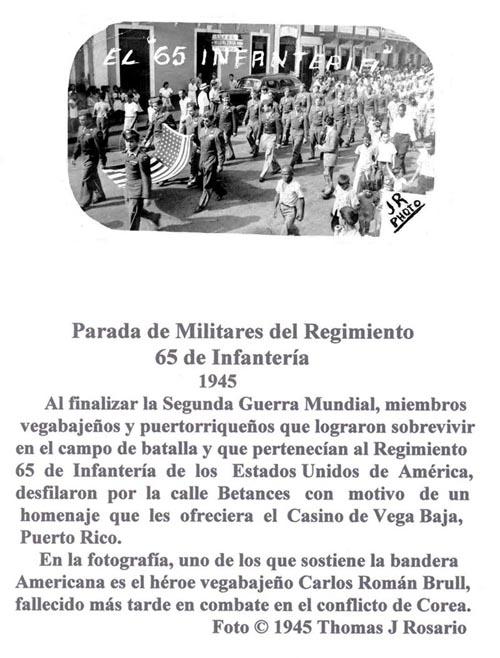 064-0 Reg 65 Inf Parada 1945 VB  Triunfo II Guerra Mundial