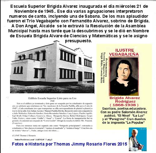 Escuela Brigída Alvarez 1945