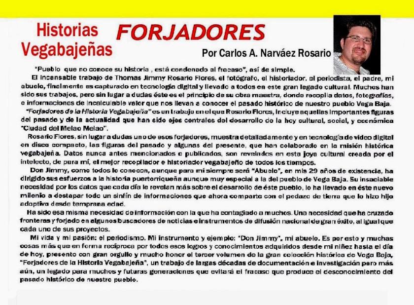 Adelanto 003-3 Forjadores  Vol 3-1 Prólogo Carlos A Nárvaez Vol 3-1