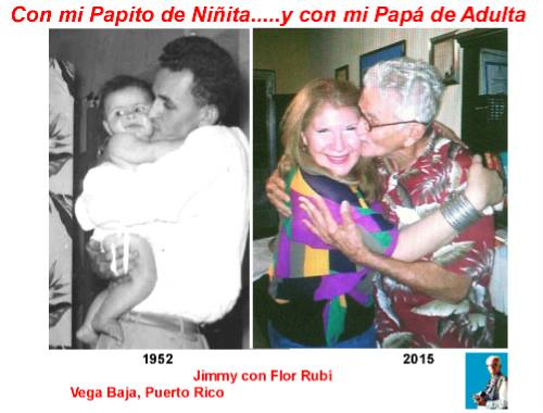 PAPI Y FLOR EN 1952 Y 2015