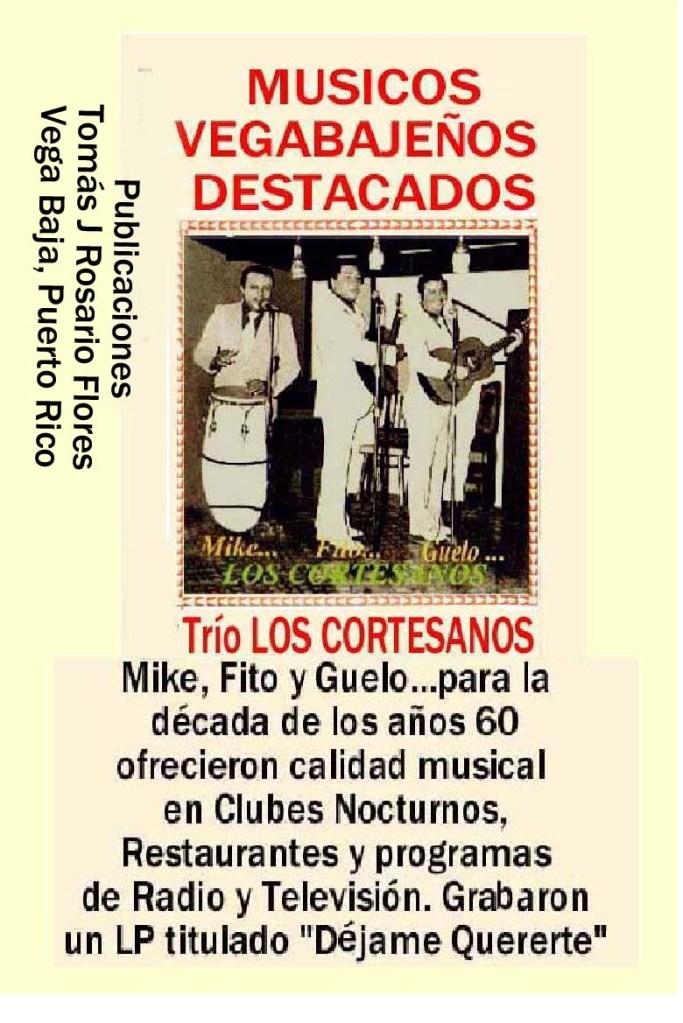 Trio Los  Cortesanos  Década años 60