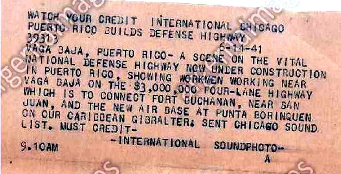 14-jun-1941 Clon arreglo de la carretera en Puerto Nuevo,  VB 003