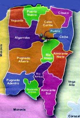 MAPA DE BARRIOS DE VEGA BAJA