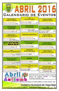 Calendario de Actividades ABRIL 2016