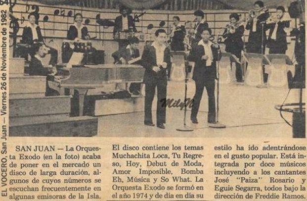 EXODO 74 EN 1982